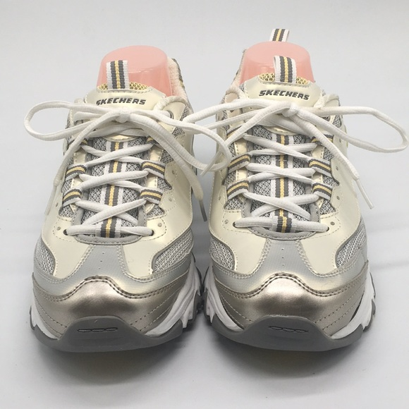 Skechers D'lites Champagne color sneakers